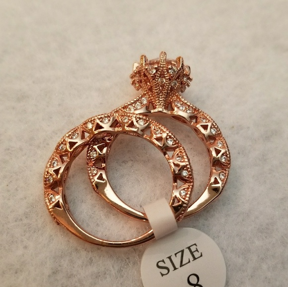 stamped Jewelry Vintage Style Rose Gold Filled Wedding Set Poshmark